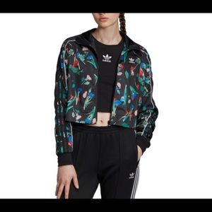 Adidas crop jacket Large